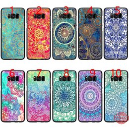 $enCountryForm.capitalKeyWord NZ - Sapphire Jade Stained Glass Mandalas Soft Black TPU Phone Case for Samsung Note 9 8 S8 S9 Plus S6 S7 Edge Cover