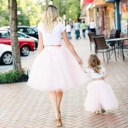 0c8539394c Underskirt 7 Layered Tulle Skirts Womens 2018 Summer High Waist Swing Dolly  Ball Gown Mesh Tutu Midi Skirt Faldas Saias J190426