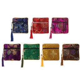 $enCountryForm.capitalKeyWord UK - Mini Classic Chinese Embroidery Jewelry Bag Organizer Silk Tassel Traditional Pouch Portable 7 Color