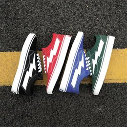 Spring Fall Canvas Shoes Australia - 2019 Revenge X Storm Old Skool Canvas new Designer Sneakers Women Men Fire Red flame White Black Casual Shoes zapatillas de deporte