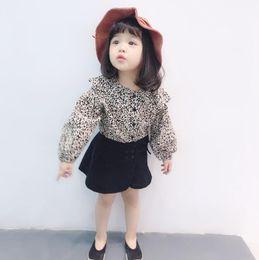 $enCountryForm.capitalKeyWord NZ - Ins wholesale digital leopard print long sleeves t-shirt girls classical white classic spring  autumn baby shirts