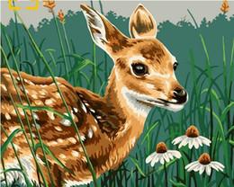 Deer Blocks NZ - 40x50cm Digital oil painting by numbers home decoration craft gifts animals Deer