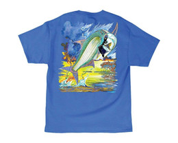 blue cotton men NZ - Tarponator T-shirt - Ocean Blue - Small Men Short Sleeve T Shirt New Design Cotton Male Tee Shirt Designing