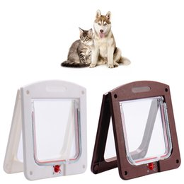 $enCountryForm.capitalKeyWord Australia - 2019 Pet Cat Puppy Dog Gates Door Lockable Safe Flap Door Kitten Pet Safety Products Lock Suitable for Wall or