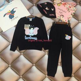 $enCountryForm.capitalKeyWord Australia - Children pullover sets kids designer clothing balloon elephant print shirt + pants + hat 3pcs autumn cotton boys and girls sets news