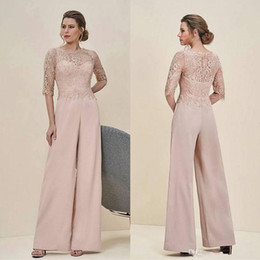 Green Suits Cheap Australia - 2019 new Modest Chiffon Jewel Long Mother Of The Bride Pant Suits With Long Sleeve Jacket Cheap Embroidery Formal Suits elegant Custom Made