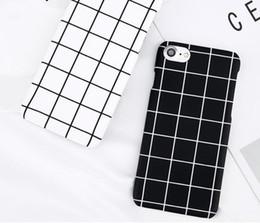 $enCountryForm.capitalKeyWord Australia - Phone Case For Iphone X Xr Xs Max 8 7 6 6s Plus 5 5s Fashion Retro Black White Grid Fashion Simple Hard Pc Cover Cases