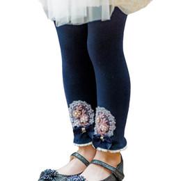 $enCountryForm.capitalKeyWord Australia - Girls Leggings rose floral Kids Leggings Tights lace bows Girls Tights 2019 new Spring Autumn Girls Long Trousers cotton Kids pants A3455