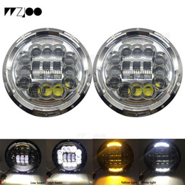 led tractor headlights UK - pair 90W offroad 7inch round headlight with DRL white turn signal H4 H13 plug for 07-17 Wrangler JK CT TJ tractor trailer trucks