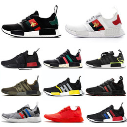 classic men sneakers Australia - Best Quality NMD R1 BEE Primeknit Running Shoes Classic Triple Red Black Men Women Sport Shoes Athletic Designer Sneakers Trainers 36-45