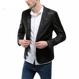 $enCountryForm.capitalKeyWord Australia - Men Fashion One Button Slim Fit Casual Business Suit Men Slim Fit Blazer Pattern Designs 3XL Stylish Black White Blazers For