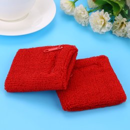 tennis wrist support sweatband NZ - Pocket Wrist Bands Tennis Sports Sweatbands wrist Support Gym Cycling Towel Cotton Weat band Fitness Powerlifting