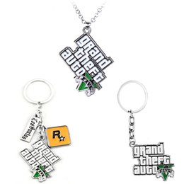 holder auto Australia - PS4 GTA 5 Game Cs keychain Grand Theft Auto 5 Alloy Pendant Gift For Fans Rock Star key chain Holder Movie Jewelry Accessories