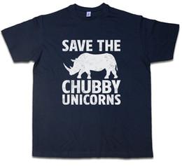 2d1b84f78 SAVE THE CHUBBY UNICORNS T-SHIRT Rhino Rainbow Colors Fairy Fairies Fun  Funny free shipping Unisex Casual