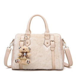 Hairy Hair online shopping - 2018 autumn and winter new European and American trend hairy bag female bag imitation rabbit hair shoulder