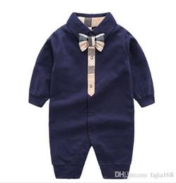 Kids Long Jumpsuit Australia - Hot Sale Romper Spirng Autumn Long Sleeve Baby Boy Girl Romper Infant Warm Jumpsuit Kids Cotton baby Clothes 0-24CM