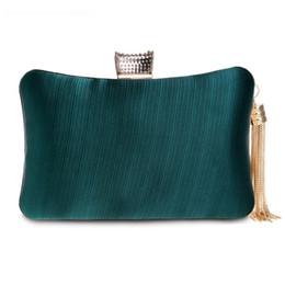 Clutch Bag Party Green Australia - Metal Tassel Lady Clutch Bag With Chain Shoulder Handbag Classical Style Fashion Wallet Women Party Wedding Purse bolso mujer A3