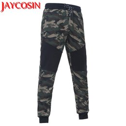 Camouflage dropshipping online shopping - 2018 Men s Camouflage Black Splicing Drawstring Trousers Pants Dropshipping pant men August