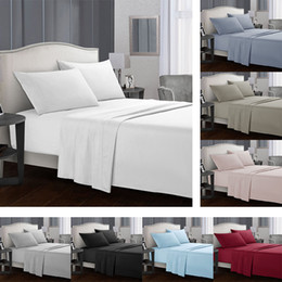 solid aqua bedding NZ - Solid colors Bedding sets Fitted sheet Flat sheets Pillowcase 3 4pcs Twin Full Queen California King bed Set USA Size for home hotel