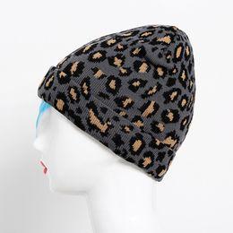 Discount army gloves - 2018 Newly Fashion Adult Women Men Winter Leopard Crochet Hat Knit Hat Warm Cap freeshipping #A