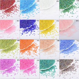 Wholesale New Free Shipping Loose 2mm Czech Glass Seed Spacer beads many colors For Jewelry Making Craft DIY