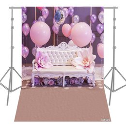 cartoon photography background 2019 - Andoer 1.5 * 2.1m 5 * 7ft Multifuncitonal Photography Studio Background Pink Flower Cartoon Photo Backdrop for Party Con
