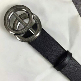 2019 High quality business waistbands imports really leather fashion big hoof footwear men's strap belts with box