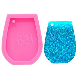 Cakes for kids bake online shopping - Pink DIY Cake Baking Tool Silicone Bakeware Molds For Kids Wine Cup Keychain Shape Sugar Cake Decoration MMA3022