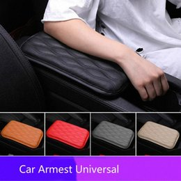 arm console UK - Car Armrest Pad Soft PU Leather Anti Scratch Universal Waterproof Box Cover Cushion Resistant Center Console Non Slip Arm Rest jPIj#