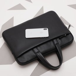 simple handbags Australia - Men's Cowhide Business Handbag Genuine Leather Retro Simple Briefcase.
