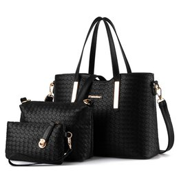 $enCountryForm.capitalKeyWord NZ - Lovely2019 Woman Weave Package Crocodile Grain Three-piece Child And Mother Bag Hand Bill Of Lading Shoulder Satchel Bale