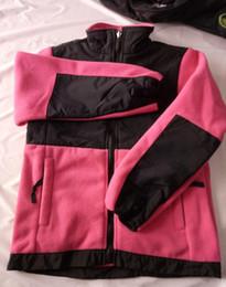 $enCountryForm.capitalKeyWord Australia - NF New Winter Kid's Fleece Hoodies Jackets Outdoor Widproof Ski Down SoftShell Boys Girls Fleece High Quality Jackets Black Pink Size S