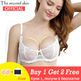 603dee500da10 Transparent Sexy Bra Set Plus Size Women Underwear Set See Through Bra And Panty  Set Intimates Embroidery Half Cup Lace Lingerie