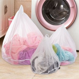 wholesale korean bedding sets 2019 - Mesh Laundry Bags Organizer Household Laundry Liners bra Net Wash Bag Set For Delicates Garments Blouse Sweaters Short C
