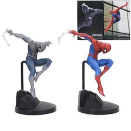 $enCountryForm.capitalKeyWord Australia - 18cm Marvel the avengers Amazing Spiderman creator Action Figure black Spider Man PVC Action Figure Collectible Model Toy Gift