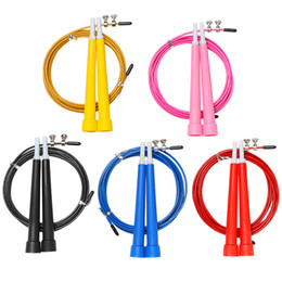 crossfit equipment NZ - New Steel Wire Skipping Skip Adjustable Jump Rope Crossfit Fitness Equipment Exercise Workout 3 Meters Speed training Home fit