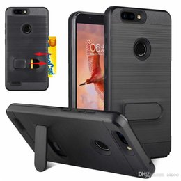$enCountryForm.capitalKeyWord Australia - Brushed Metal Card Slot Kickstand Case for iPhone XR XS Moto E5 play plus Samsung note 9 J7 J3 A6 2018 LG Q7 plus G7 Stylo4 ZTE Alcatel OPP