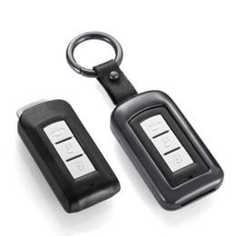 Discount aluminum ring case - Aluminum Alloy+Leather Key Ring Car Styling Key Cover Case For Mitsubishi Outlander Lancer 10 Pajero Sport ASX L200 3 Bu