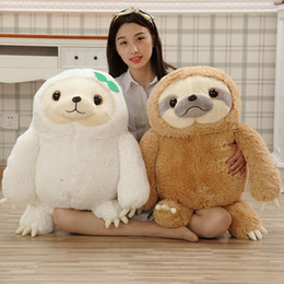 cartoon movie stuff NZ - Hot 40cm 50cm Crazy Animal City Cute Sloth Plush toy Anime Movie Sloth Stuffed Animals Cute Doll Kawaii Toys For Girl Gifts MR24