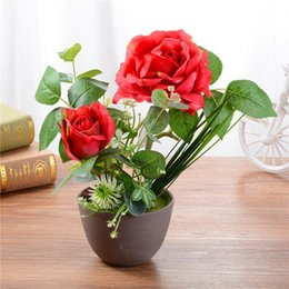 $enCountryForm.capitalKeyWord Australia - 2019 peony flowers creative ornaments Artificial flower household items artificial silk flower simulation plants with pot