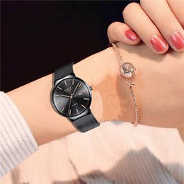 net watches NZ - Modern fashion LIGE new ladies black quartz clock net with stainless steel watch high quality casual watch female sports