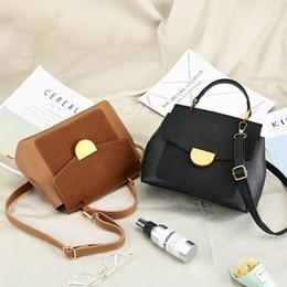 Ladies Briefcase Handbags Australia - Women Retro Handbag Leather Briefcase Fashion Shoulder Bag Tote Purse Ladies Solid Casual Messenger Satchel New