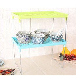 $enCountryForm.capitalKeyWord Australia - Kitchen Bathroom Cabinet Storage Shelf Stackable Cupboard Standing Foldable Rack Sundries Organizer Space-Saving Racks