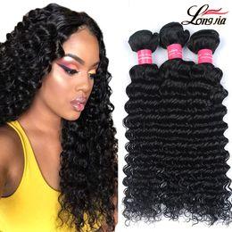Curly hair perming online shopping - Gagaqueen a Brazilian Virgin Hair Deep Wave Unprocessed Brazilian Deep Curly Wave Human Hair Extensions Deep wave Hair bundles