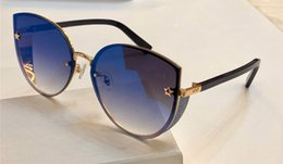 Discount purple cats eye beads - New Luxury designer women DANB S Sunglasses charming Cat eye Pentagram eyewear metal flash beads design galsses 100% UV4