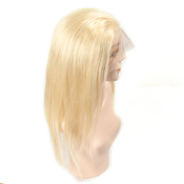 $enCountryForm.capitalKeyWord UK - Full Lace Human Hair Wigs 150% Density Silky Straight 613 Blonde Human Hair Wigs For Women full lace Brazilian Wig Bleached Knots Remy