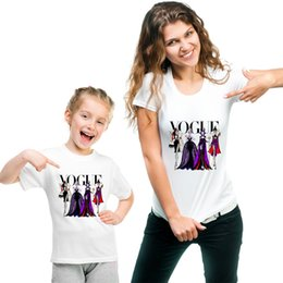 Discount mother daughter tee shirts - Matching Family Outfits T-shirt Vogue Vintage Princess Tee Shirt Mother Daughter Outfits