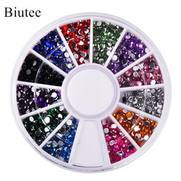 Decoration Laptop Australia - art Biutee 12 Colors 2mm Acrylic Art Rhinestones Decoration For UV Gel Phone Laptop DIY Nail Tools