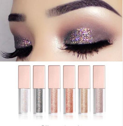 eye shadow pencil glitter NZ - Hot 6pcs lot Diamond Pearl Liquid Shining Shimmer Glitter Eye shadow Pencil Pen Waterproof Shining Liquid Eyeshadow Cosmetics