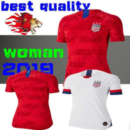542bc1493 World cup 2019 America girl Soccer Jersey United States home away Shirt USA  women 3 star LLOYD RIPINOE KRIEGER Football Uniform Female 19 20